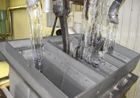 氷ができるまで 注水